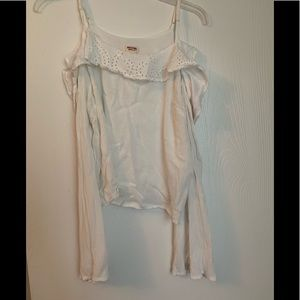 White Ruffled Blouse